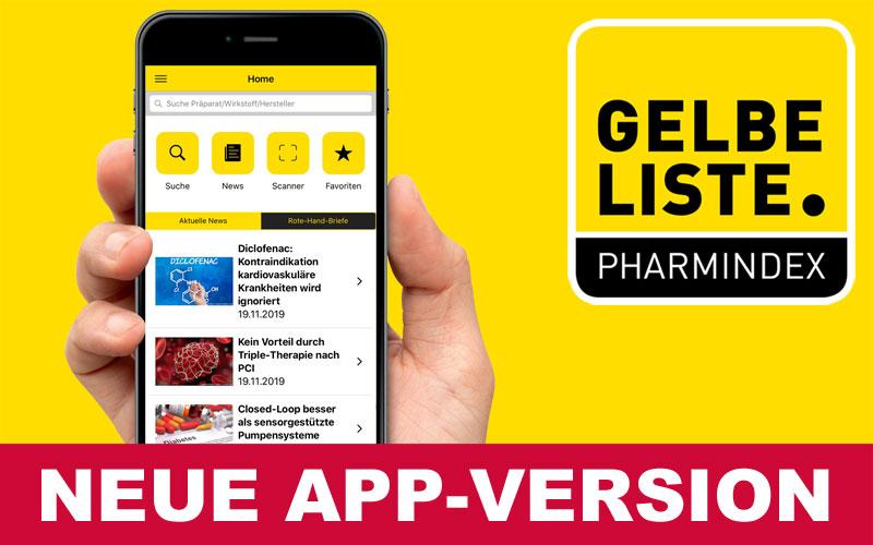 Gelbe Liste App Neue Version