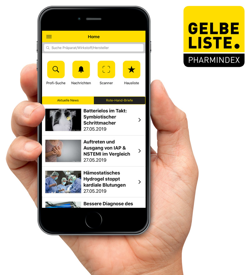 PM Gelbe Liste App Relaunch