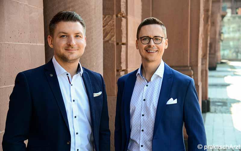 praktischArzt Geschäftsführer Timo Krasko und Michael Schmitt