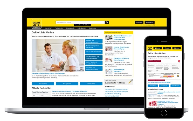Gelbe Liste Homepage